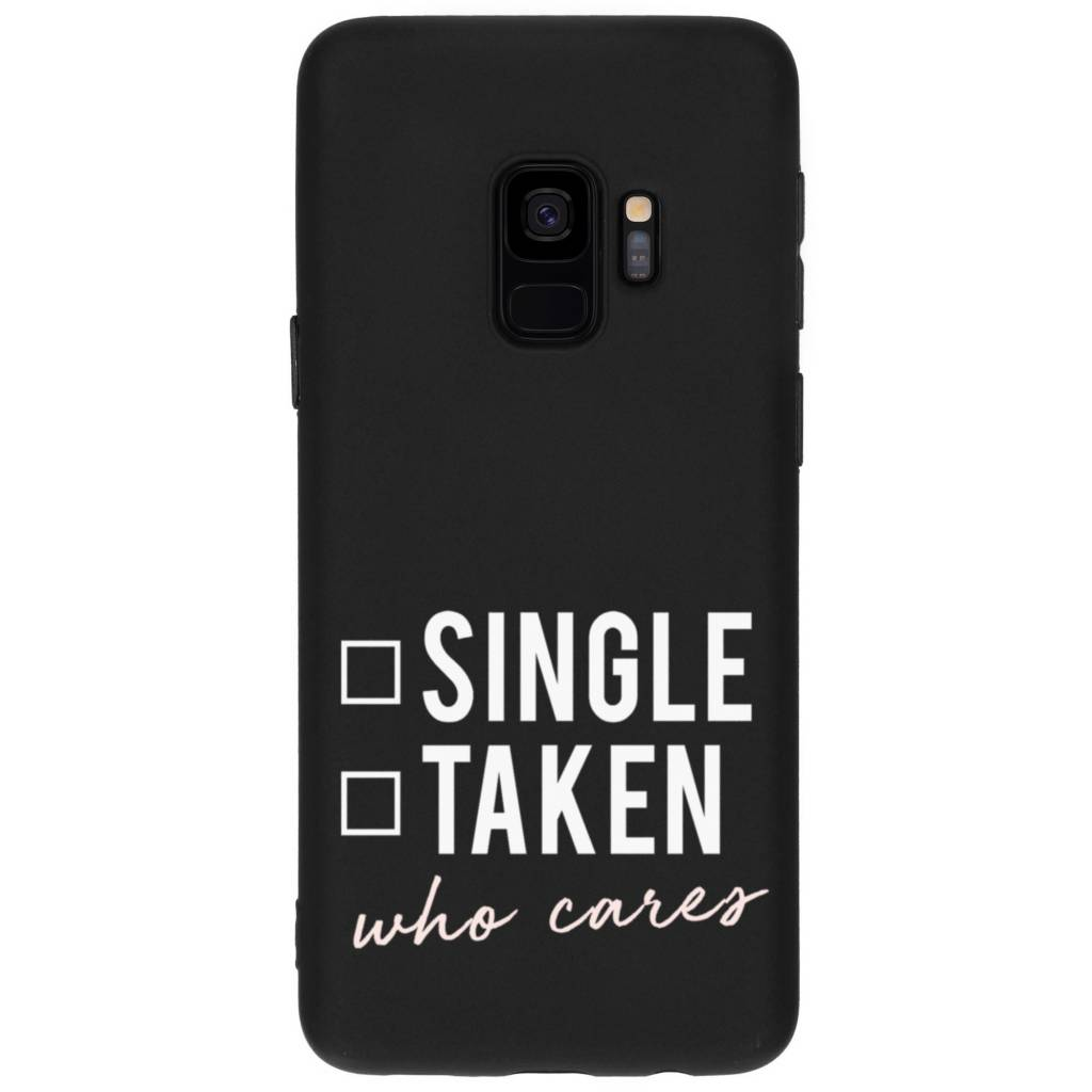Who Cares design siliconen hoesje siliconen hoesje voor Samsung Galaxy S9