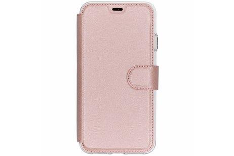 Accezz Xtreme Wallet Booktype voor iPhone Xs Max - Rosé goud
