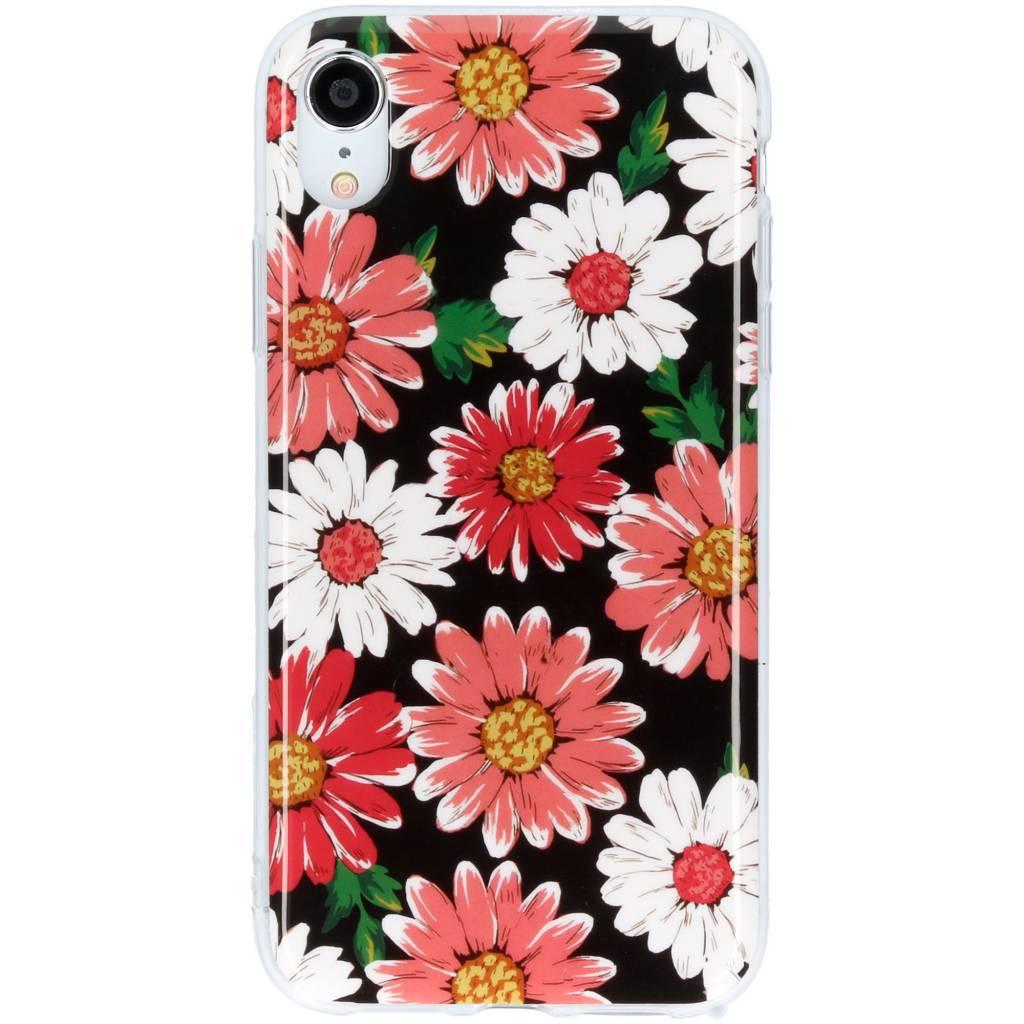 Design Backcover voor iPhone Xr - Gekleurde Bloemen