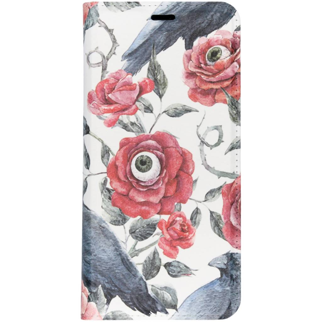 Bloemen Met Oog Design TPU Bookcase voor de Samsung Galaxy S9