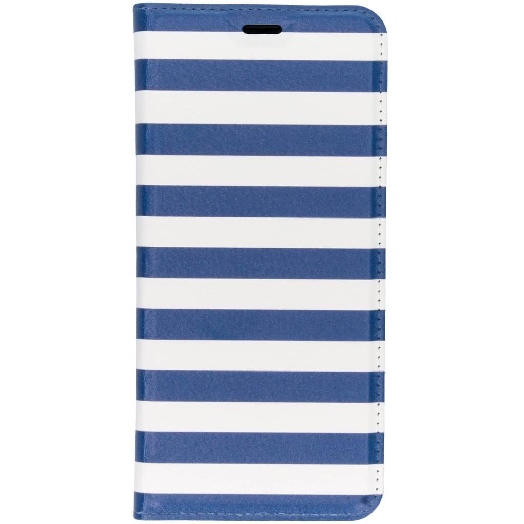 Stripes Blue Design TPU Bookcase voor de Samsung Galaxy S9