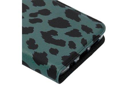 Design Softcase Booktype voor Samsung Galaxy S9 Plus - Panter Groen