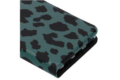Design Softcase Booktype voor Huawei Mate 10 Lite - Panter Groen