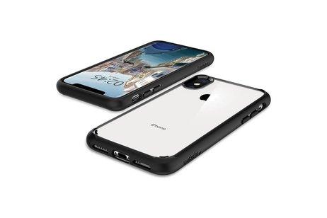 Spigen Ultra Hybrid Backcover voor iPhone X / Xs - Zwart