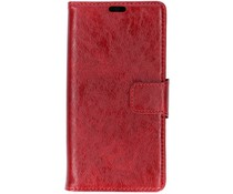 Rood split leather booktype Samsung Galaxy J4 Plus