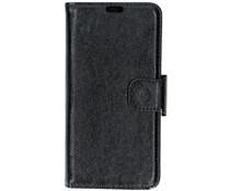 Zwart split leather booktype Samsung Galaxy J4 Plus
