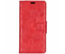 Rood split leather booktype Sony Xperia XZ3