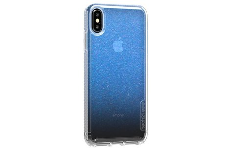 Tech21 Pure Shimmer Backcover voor iPhone Xs Max - Blauw