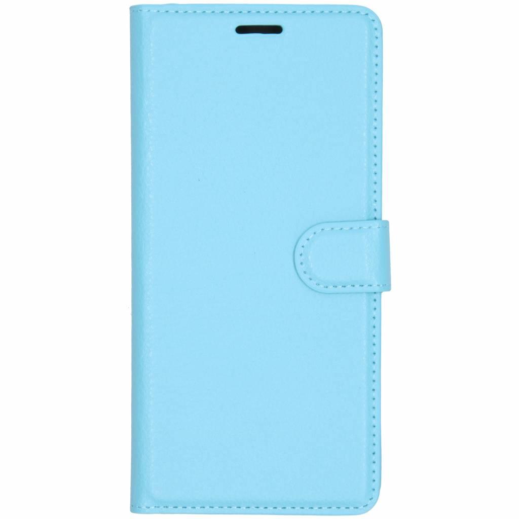 Blauwe litchi booktype hoes voor de Samsung Galaxy J6 Plus