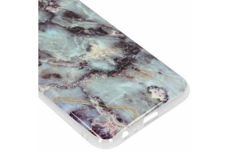 Design Backcover voor Samsung Galaxy J6 Plus - Marmer Blauw