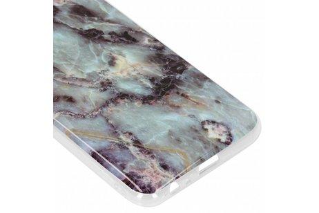 Design Backcover voor Samsung Galaxy J4 Plus - Marmer Blauw
