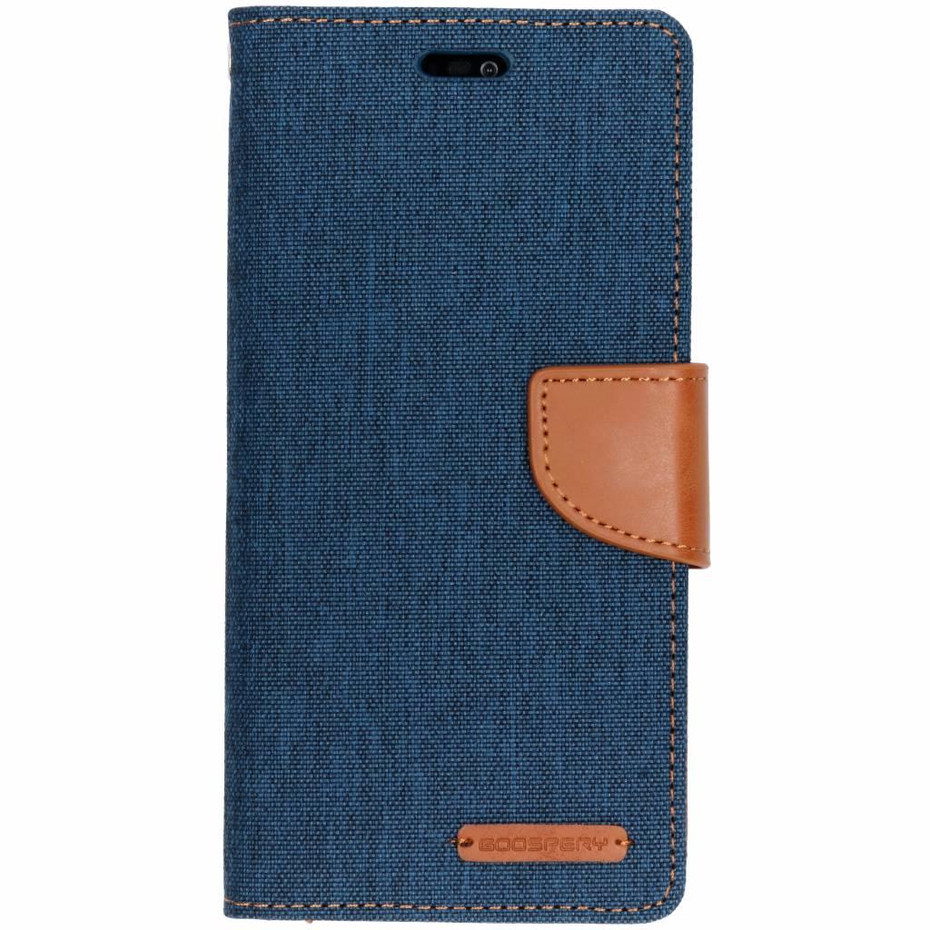 Mercury Goospery Blauwe Canvas Diary Case voor de Huawei P20 Lite