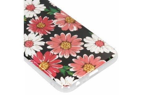 Design Backcover voor Samsung Galaxy J6 Plus - Gekleurde Bloemen