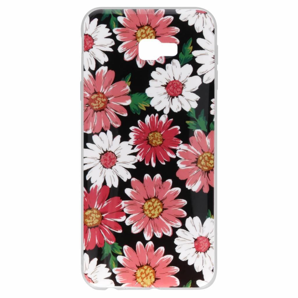 Gekleurde bloemen design siliconen hoesje voor de Samsung Galaxy J4 Plus