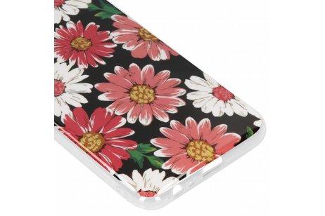Design Backcover voor Samsung Galaxy J4 Plus - Gekleurde Bloemen