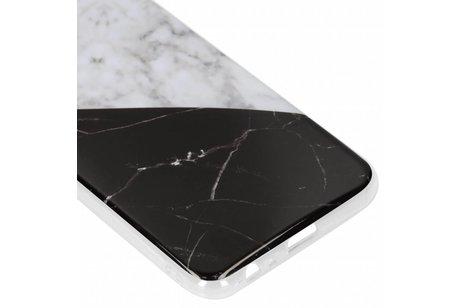 Design Backcover voor Samsung Galaxy J4 Plus - Geblokt Marmer