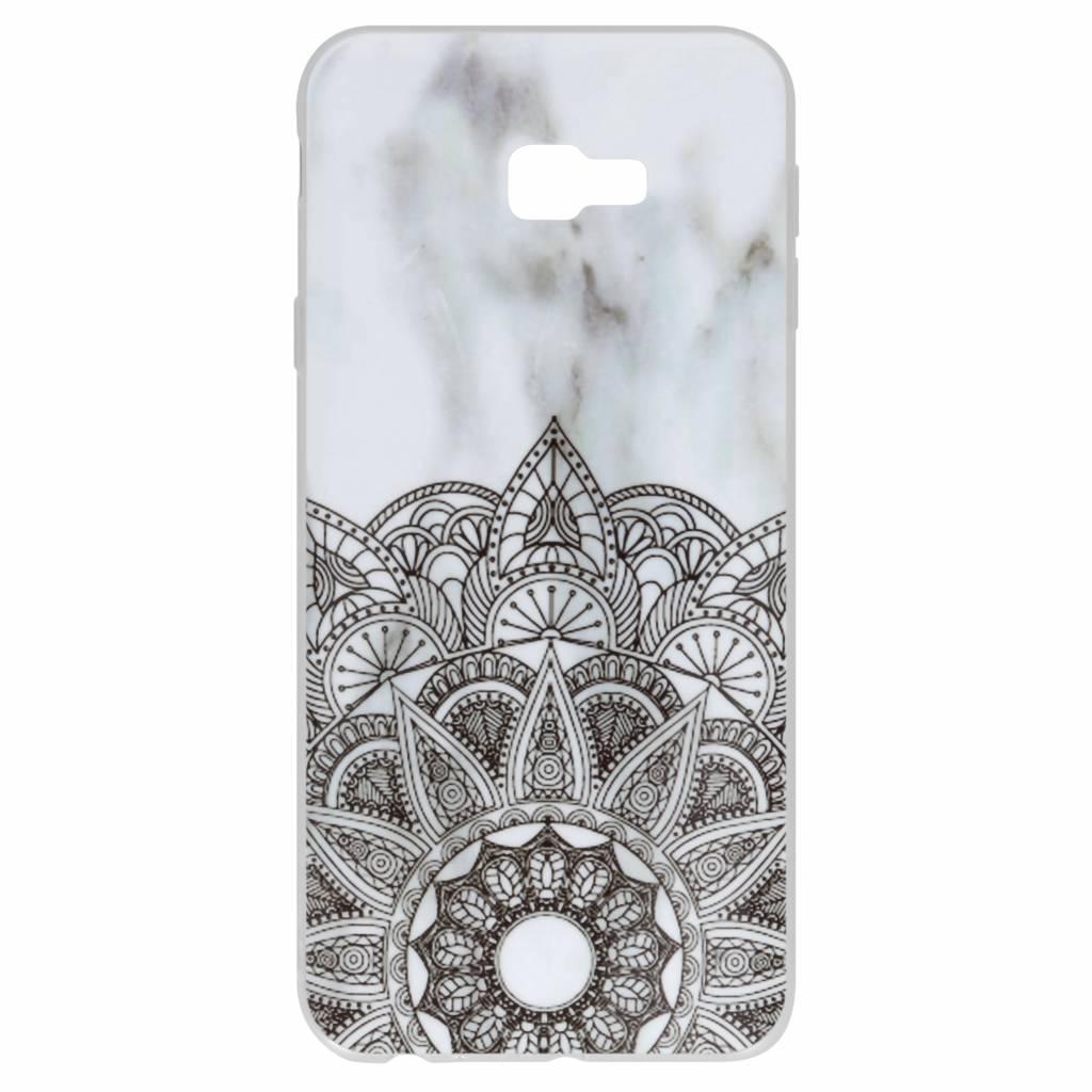 Design Backcover voor Samsung Galaxy J4 Plus - Mandala Marmer
