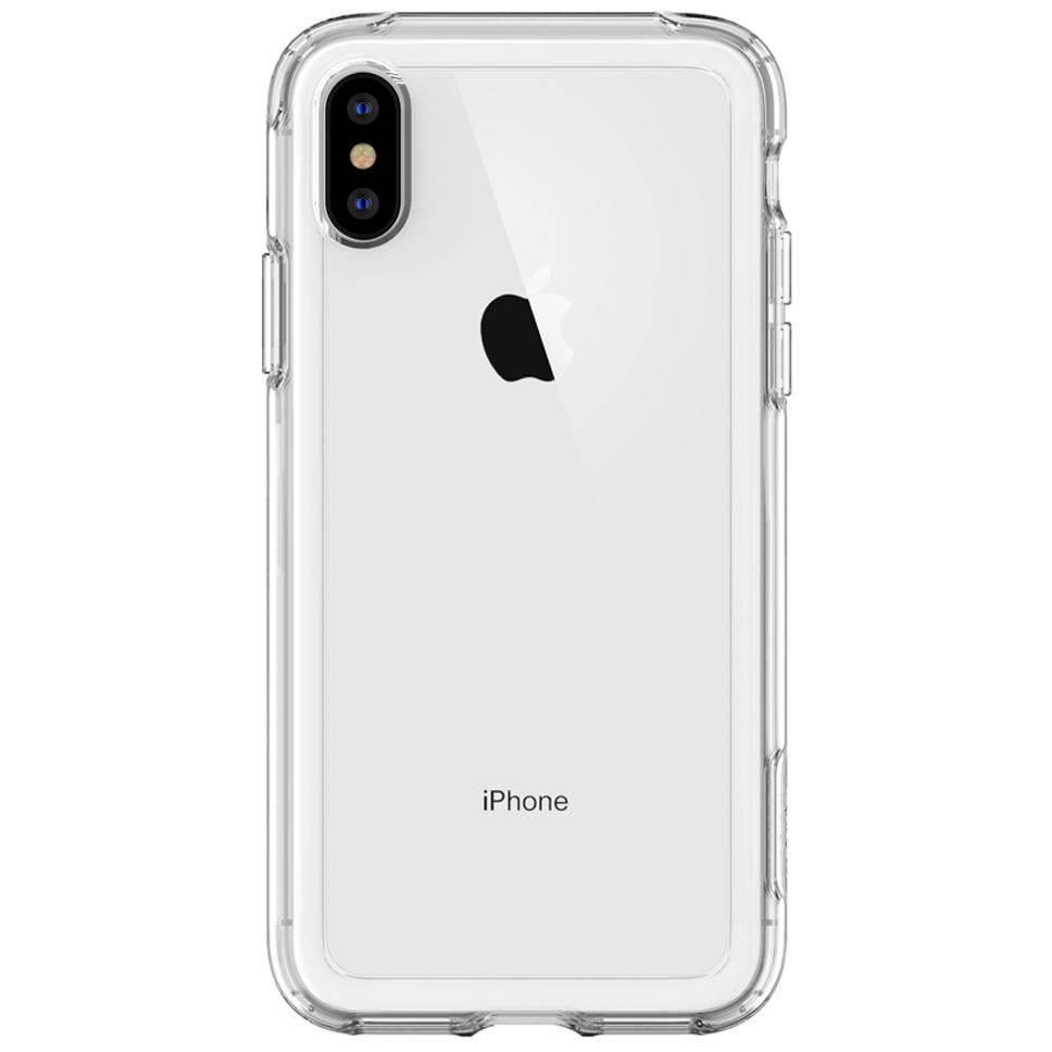 Spigen Crystal Hybrid Backcover voor iPhone Xs Max - Transparant