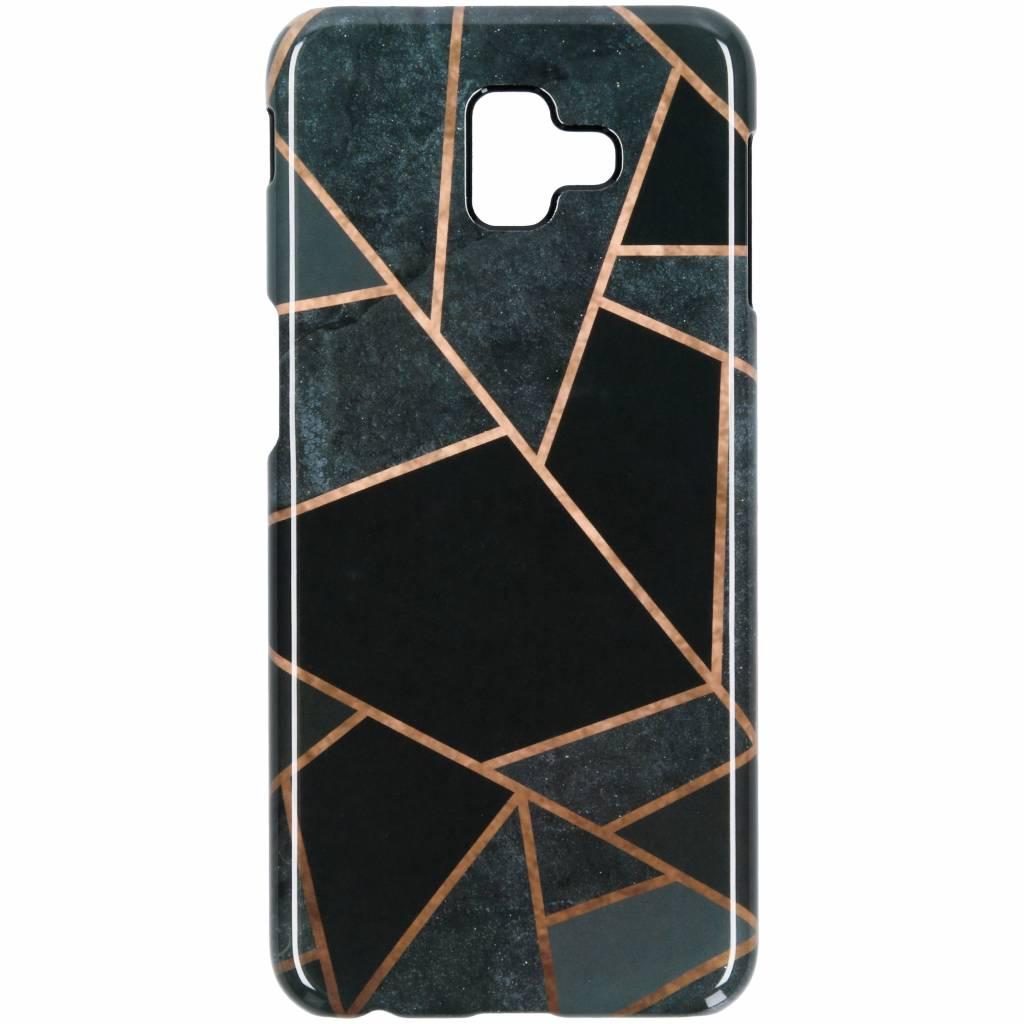 Selencia Black Graphic Passion Hard Case voor de Samsung Galaxy J6 Plus