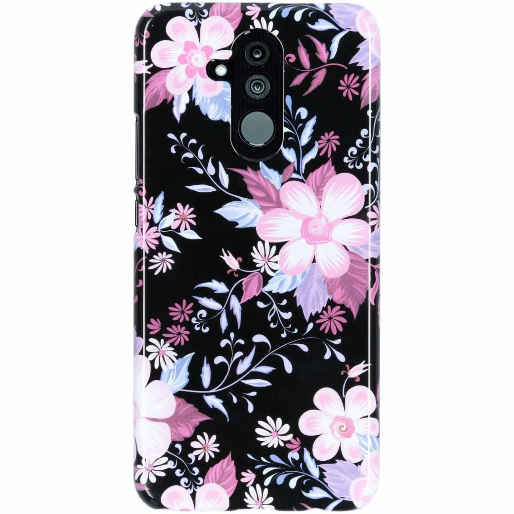 Passion Backcover voor Huawei Mate 20 Lite - Bloemen Zwart