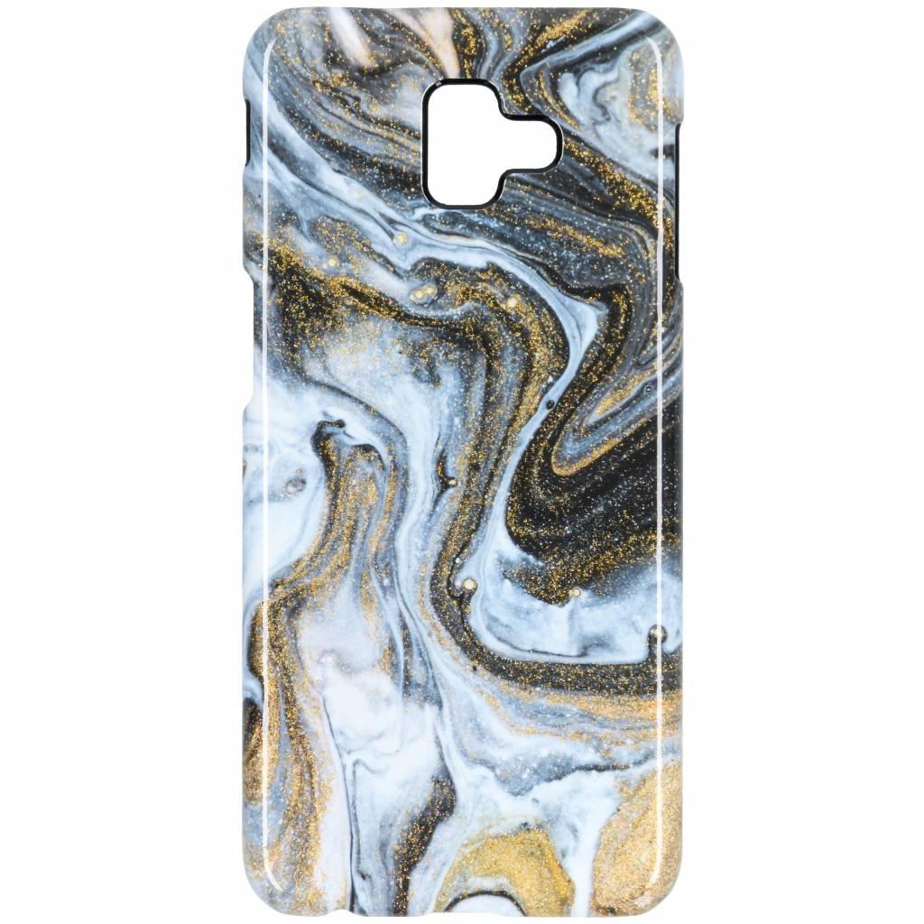 Selencia Black Lava Passion Hard Case voor de Samsung Galaxy J6 Plus