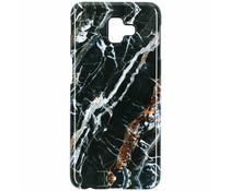 Selencia Black Marble Passion Hard Case Samsung Galaxy J6 Plus