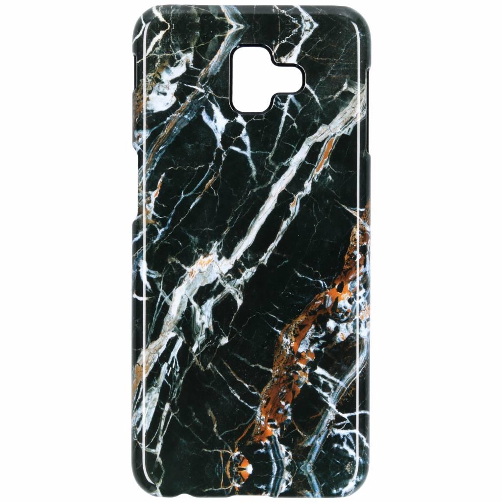 Selencia Black Marble Passion Hard Case voor de Samsung Galaxy J6 Plus