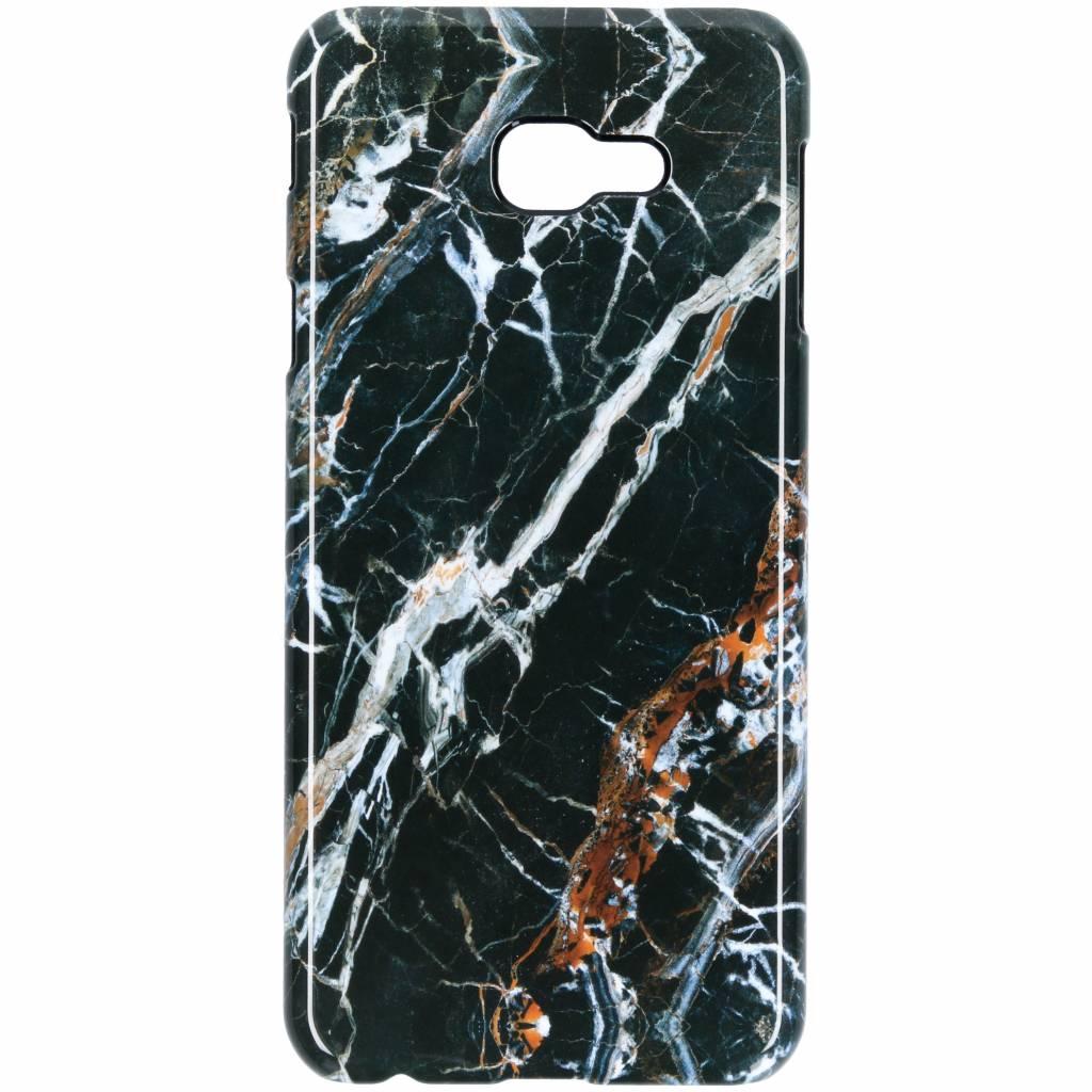 Selencia Black Marble Passion Hard Case voor de Samsung Galaxy J4 Plus