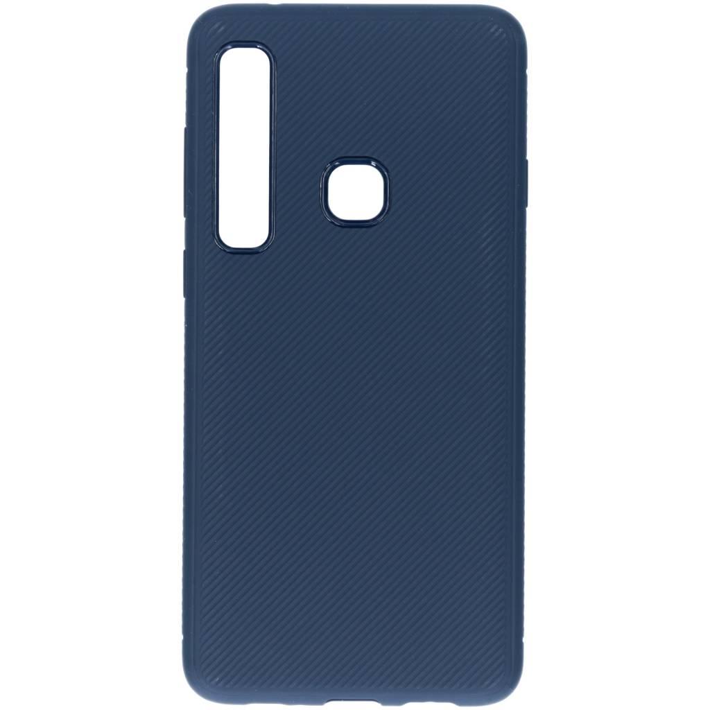 Blauwe rugged siliconen case voor de Samsung Galaxy A9 (2018)