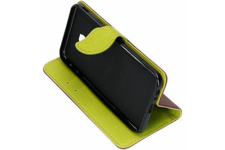 Samsung Galaxy J4 Plus hoesje - Blad Design Booktype voor