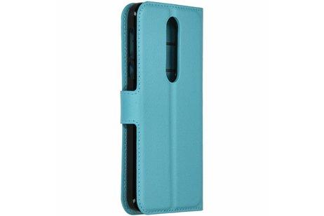 Nokia 7.1 hoesje - Basic Litchi Booktype voor