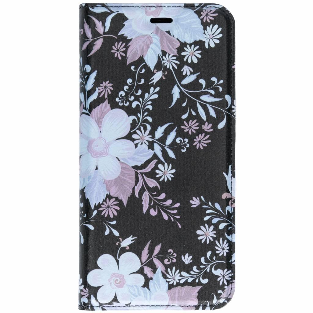 Roze Bloemen Design TPU Bookcase voor de Huawei Mate 10 Lite