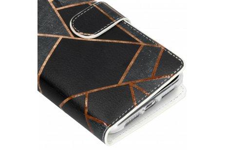 Design Luxe Portemonnee voor iPhone Xr - Stripes Blue