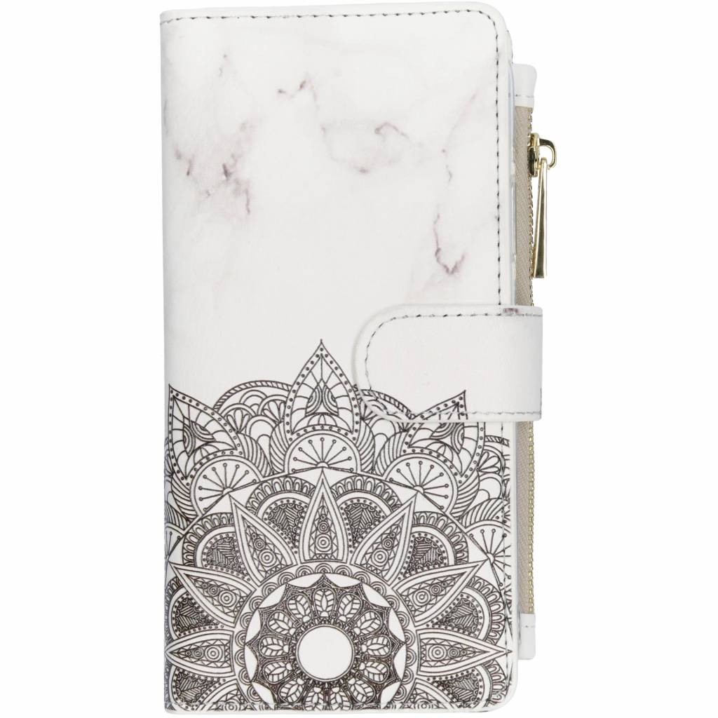 Mandala marmer design luxe portemonnee hoes voor de iPhone Xr