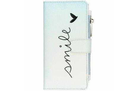 Design Luxe Portemonnee voor iPhone Xr - Smile