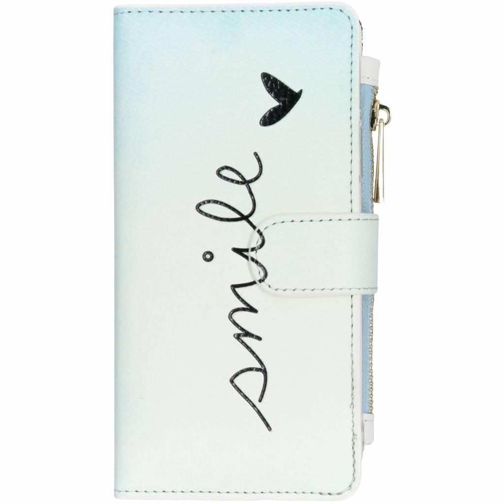 Smile design luxe portemonnee hoes voor de iPhone Xr