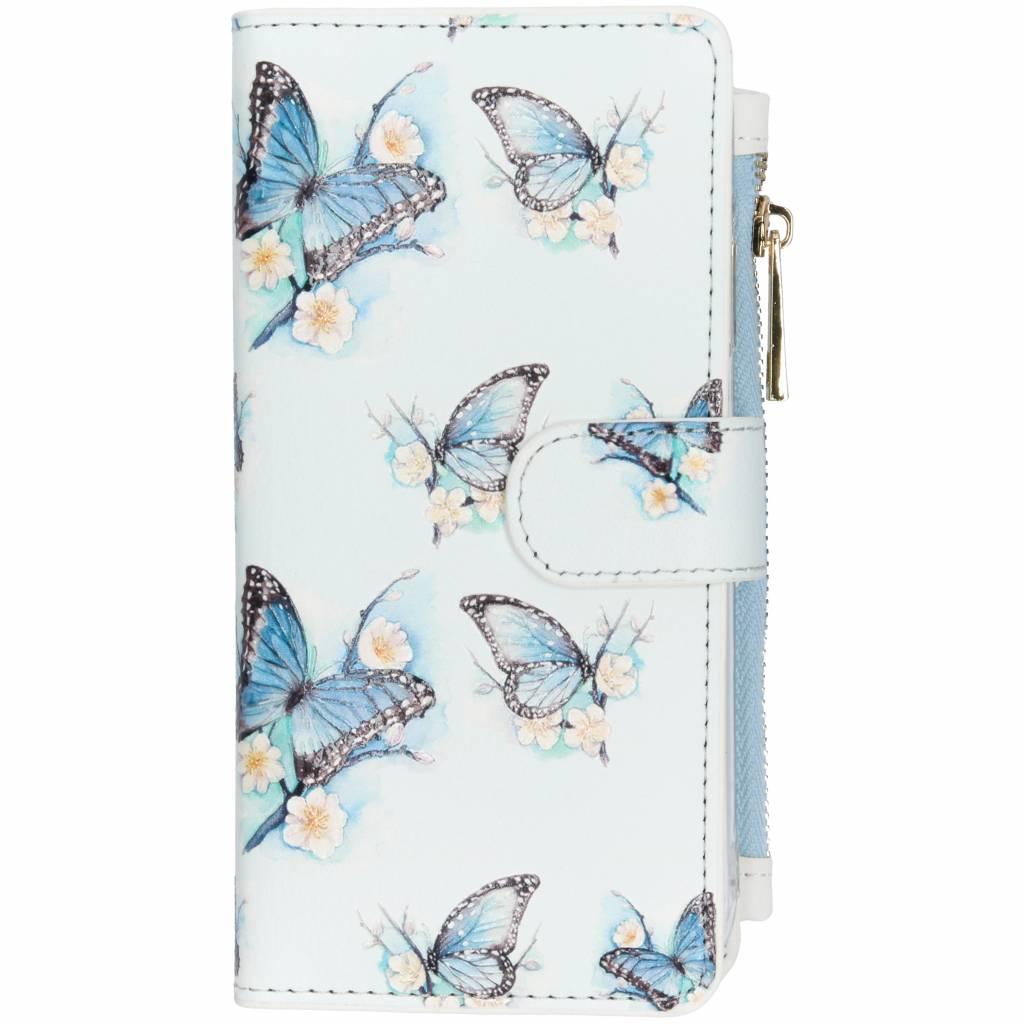 Vlinder design luxe portemonnee hoes voor de iPhone Xr