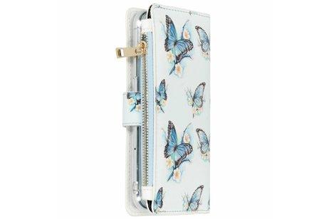 Design Luxe Portemonnee voor iPhone Xr - Vlinders
