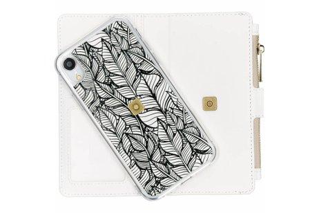 Design Luxe Portemonnee voor iPhone Xr - Botanic Feathers