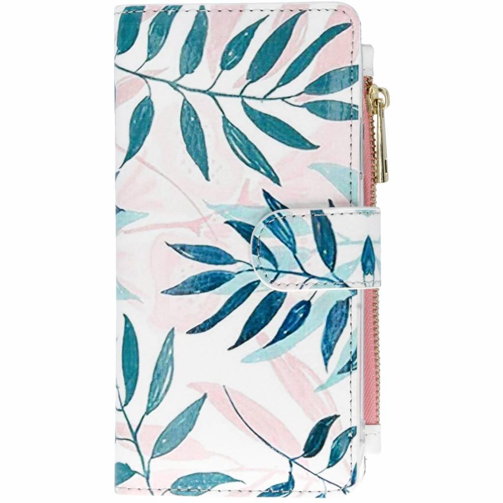 Gekleurde bladeren design luxe portemonnee hoes voor de iPhone Xr