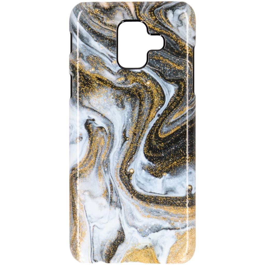 Selencia Black Lava Passion Hard Case voor de Samsung Galaxy A6 (2018)