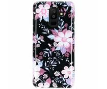 Selencia Black Flowers Passion Hard Case Galaxy A6 Plus (2018)