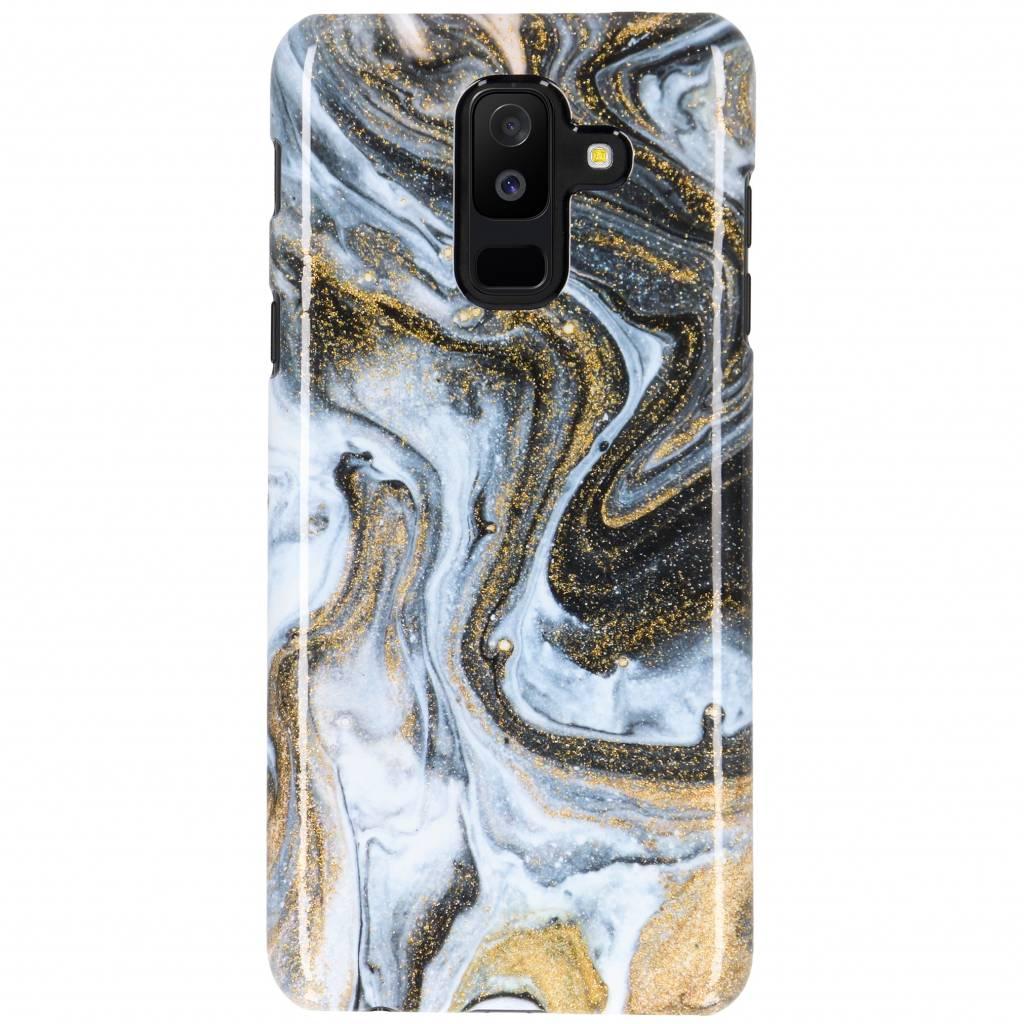 Selencia Black Lava Passion Hard Case voor de Samsung Galaxy A6 Plus (2018)