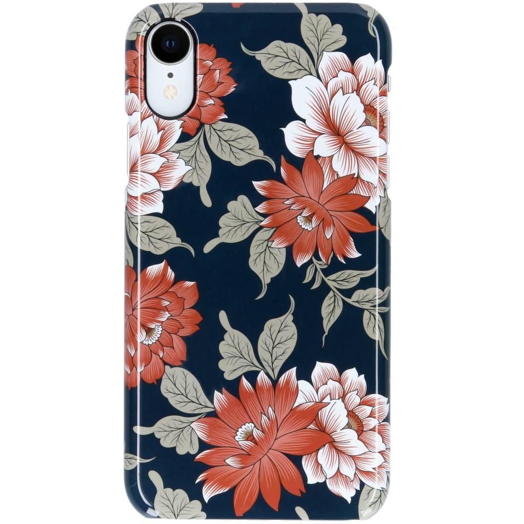 Selencia Blue Flowers Passion Hard Case voor de iPhone Xr