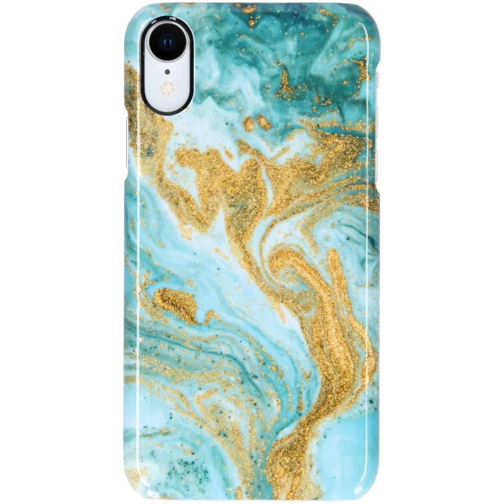 Selencia Blue Lava Passion Hard Case voor de iPhone Xr