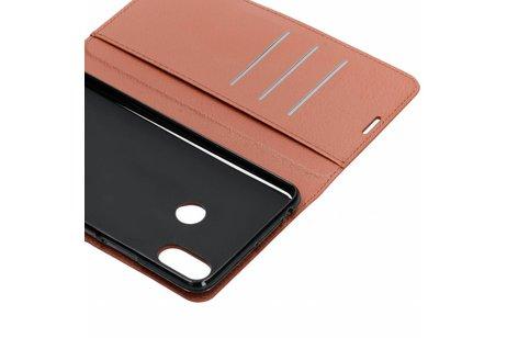 Xiaomi Mi Max 3 hoesje - Basic Litchi Booktype voor