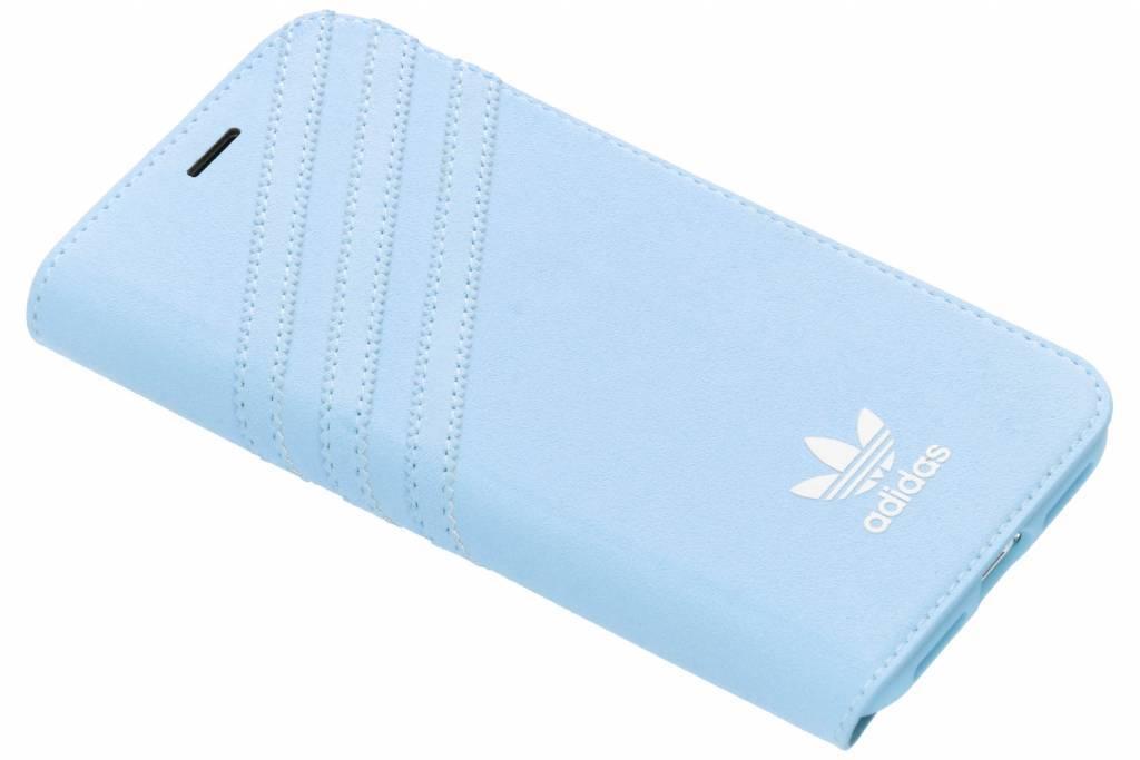 adidas Originals Blauwe Suède Booklet Case voor de iPhone Xs / X