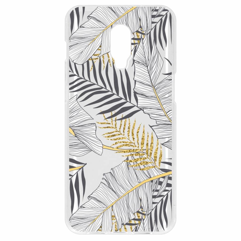 Botanic design siliconen hoesje voor de OnePlus 6T