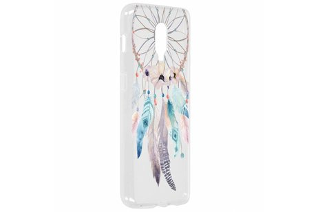 Design Backcover voor OnePlus 6T - Dromenvanger Feathers