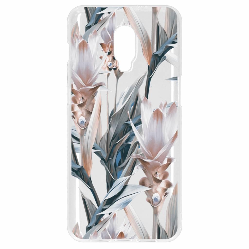 Bloemen design siliconen hoesje voor de OnePlus 6T
